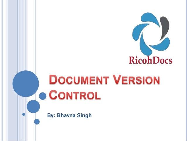 RicohDocs Document Version Control Management System