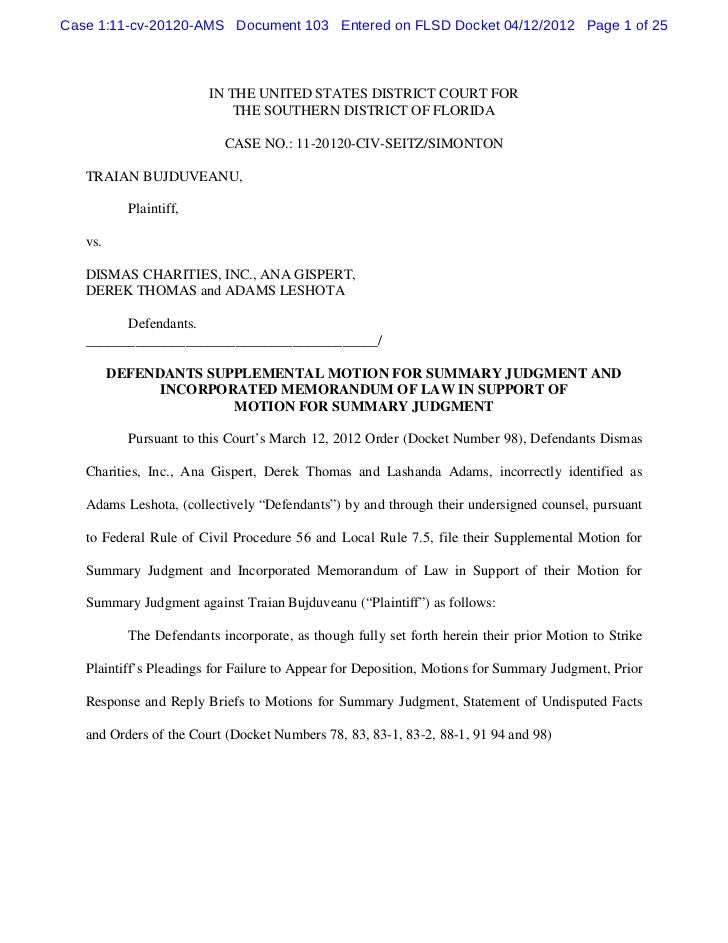 Case 1:11-cv-20120-AMS Document 103 Entered on FLSD Docket 04/12/2012 Page 1 of 25                        IN THE UNITED ST...