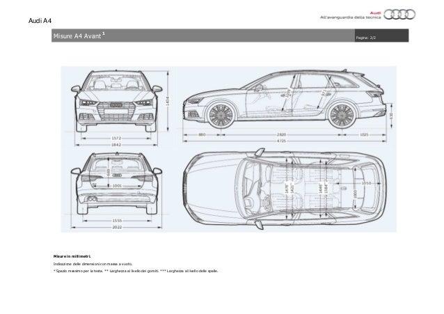 Scheda Tecnica Audi A4 2016