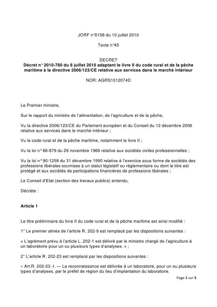 JORF n°0158 du 10 juillet 2010                                            Texte n°45                                      ...