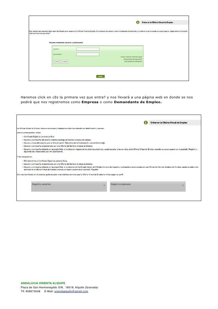 Documentacion oficina virtual sae for Oficina virtual inem para sellar