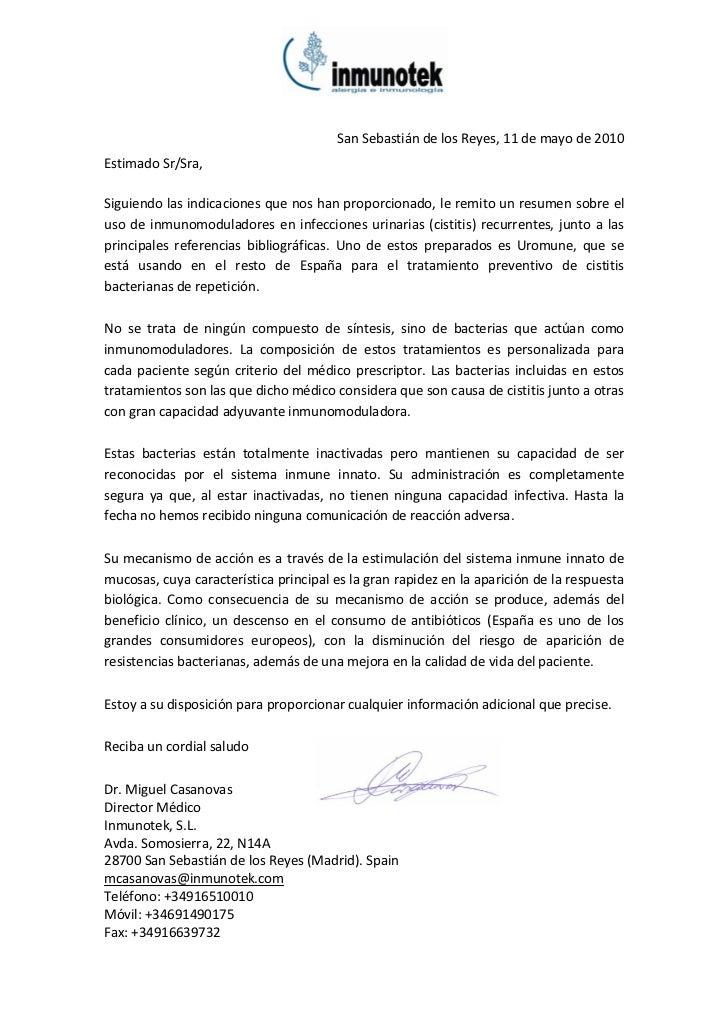 San Sebastián de los Reyes, 11 de mayo de 2010Estimado Sr/Sra,Siguiendo las indicaciones que nos han proporcionado, le rem...