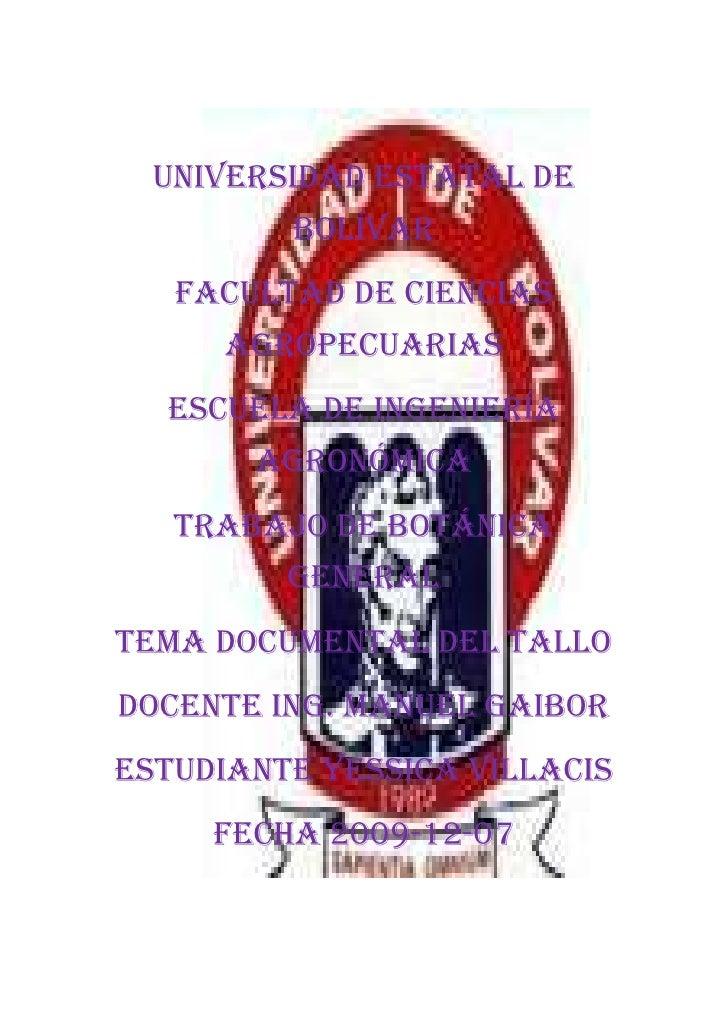 1034415224155<br />UNIVERSIDAD ESTATAL DE BOLÍVAR<br />FACULTAD DE CIENCIAS AGROPECUARIAS<br />ESCUELA DE INGENIERÍA AGRON...
