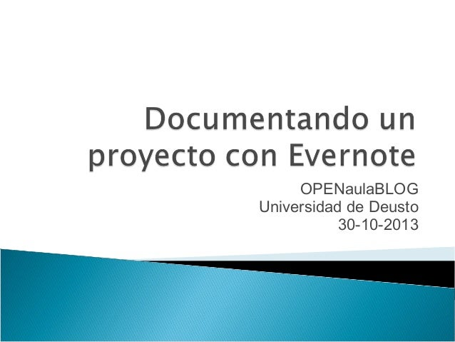 OPENaulaBLOG Universidad de Deusto 30-10-2013