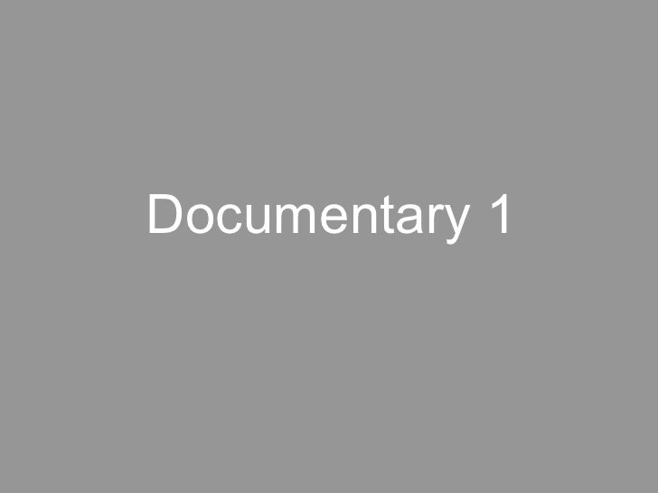 Photography Lecture: Documentary 1