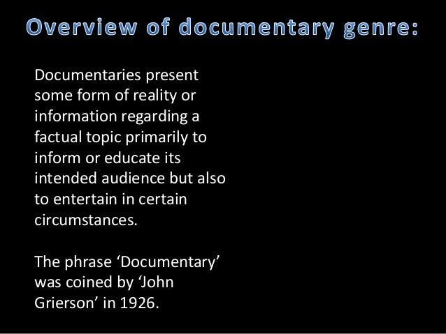 Documentary genre