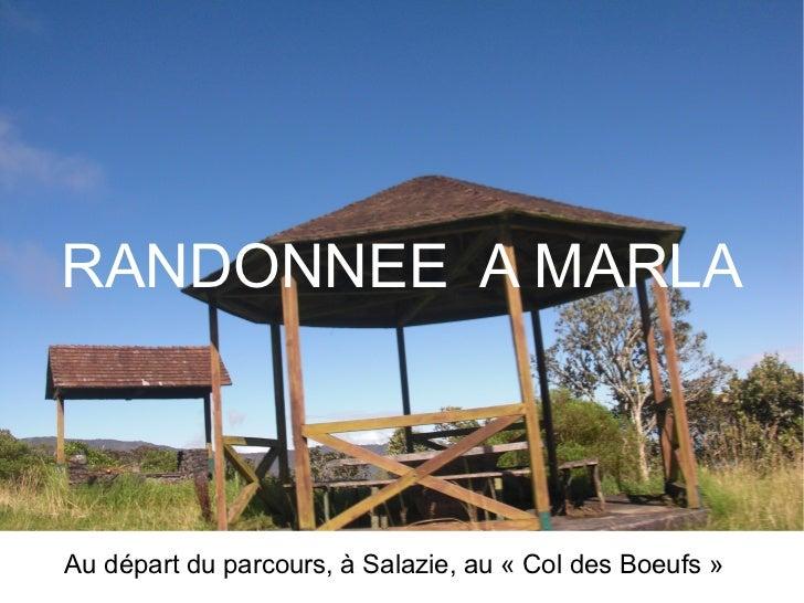 RANDONNEE  A MARLA Au départ du parcours, à Salazie, au «Col des Boeufs»