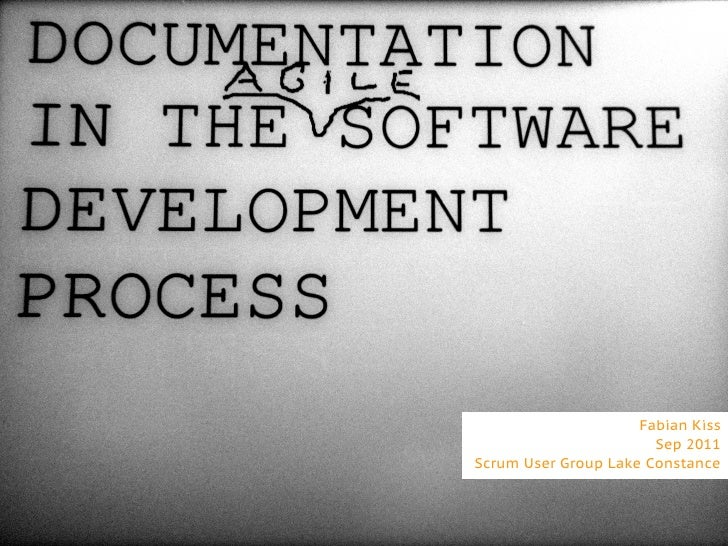 Documentation in the agile software development process