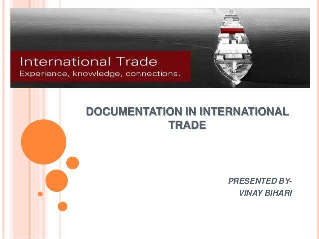 Documentation in international trade