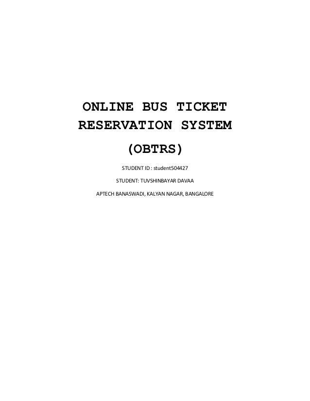 online bus reservation system report Download our free bus reservation system php project.