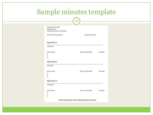 how to take minutes template