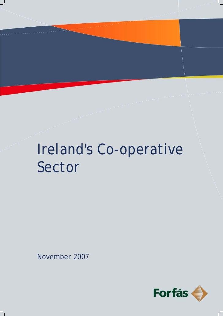 Ireland's Co-operative Sector     November 2007