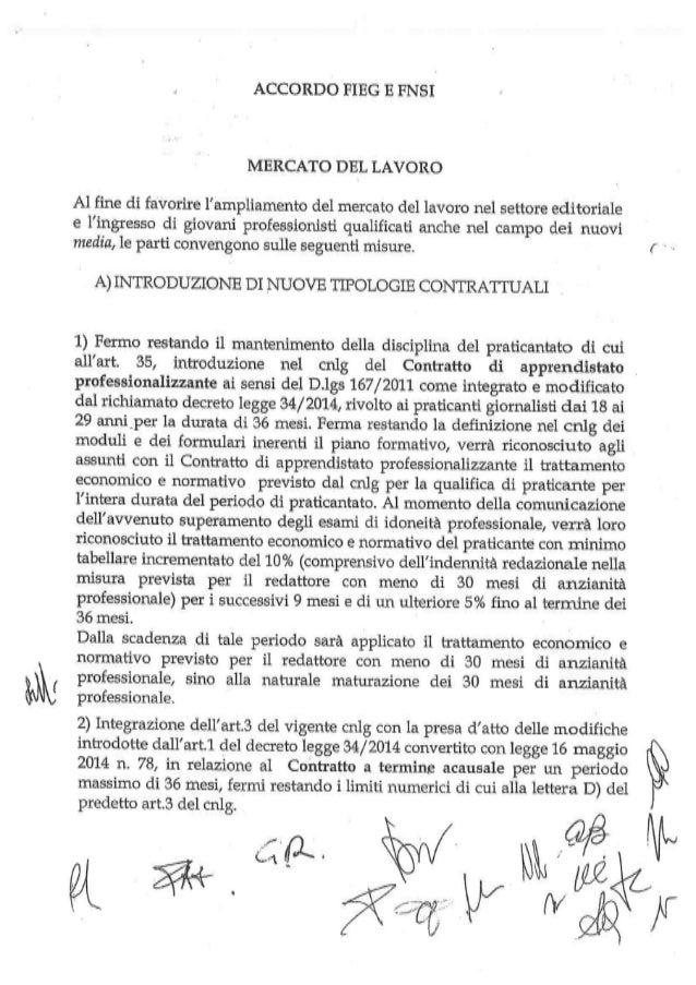 Il contratto FNSI - FIEG 2014