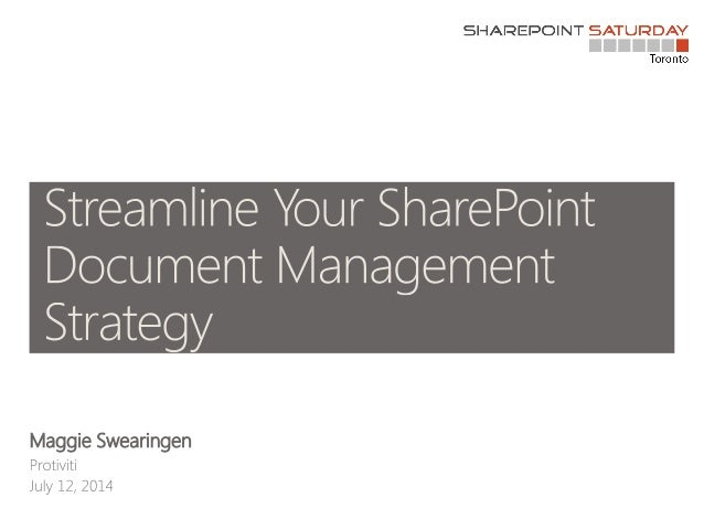 Streamline Your SharePoint Document Management Strategy