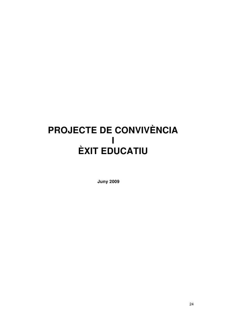 Document marc projecte de convivencia