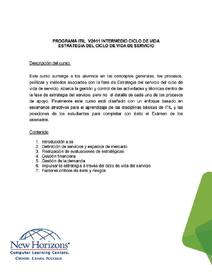 Documento Información de Curso ITIL