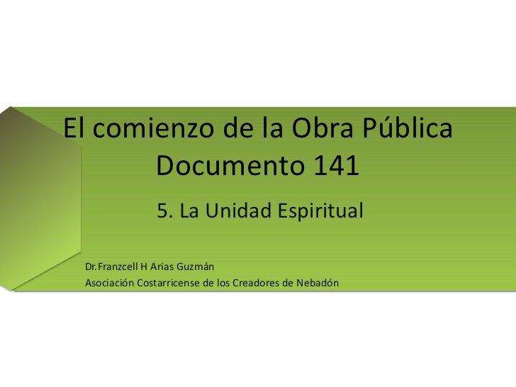 Documento 141. 5. la unidad espiritual 97 2003