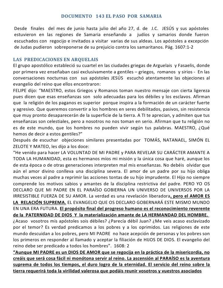 Documento 143  - El Paso por Samaria