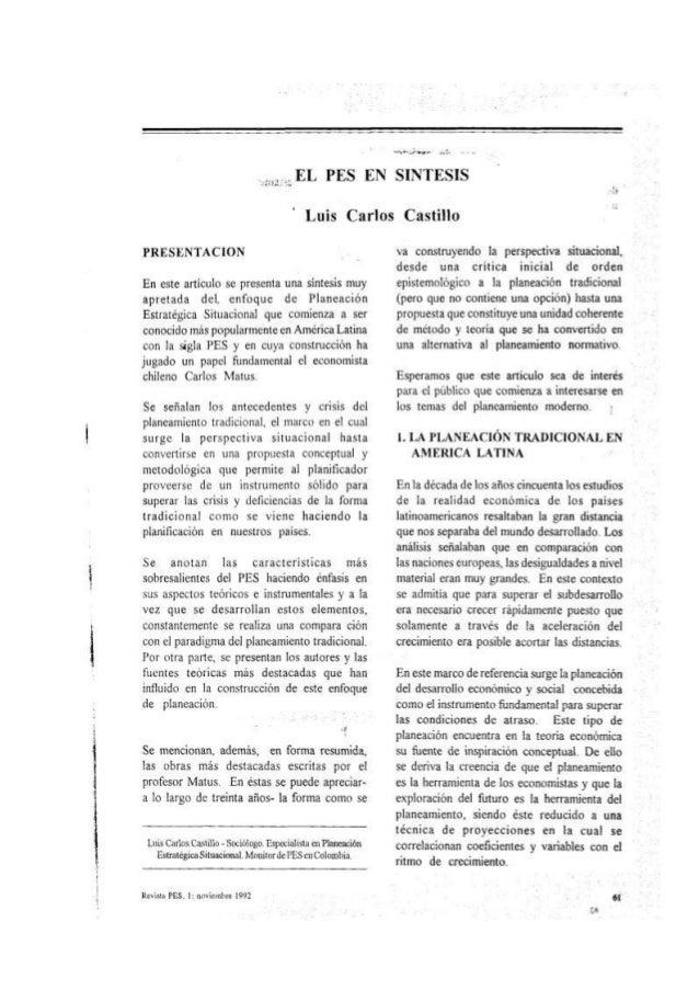 Lectura 05 El PES en síntesis