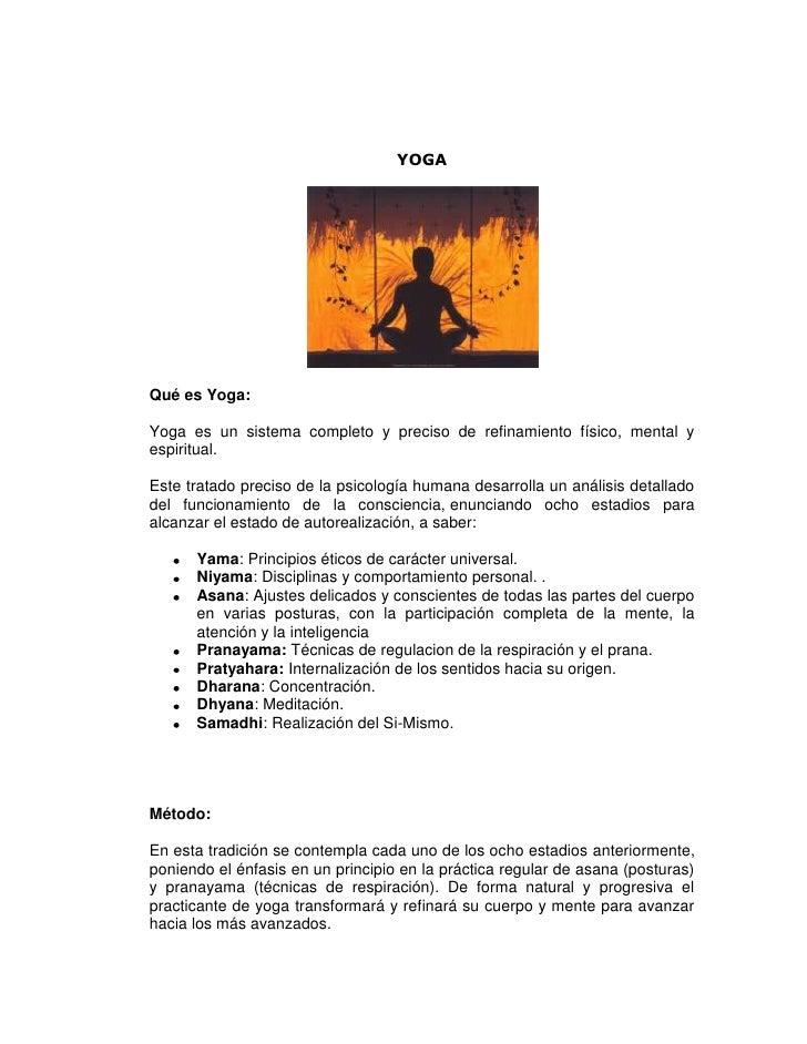YOGAQué es Yoga:Yoga es un sistema completo y preciso de refinamiento físico, mental yespiritual.Este tratado preciso de l...
