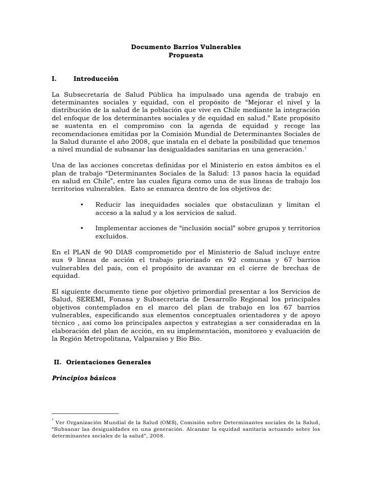 Documento Barrios Vulnerables 09 04 08