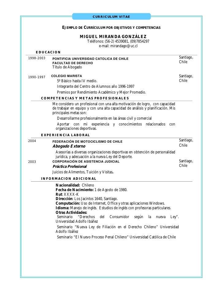 Ejemplo de curriculum vitae objetivo profesional. studentlifeguide.co.uk