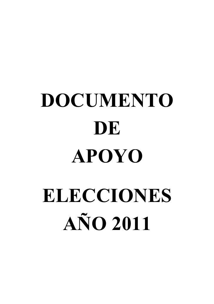DOCUMENTO    DE  APOYOELECCIONES  AÑO 2011