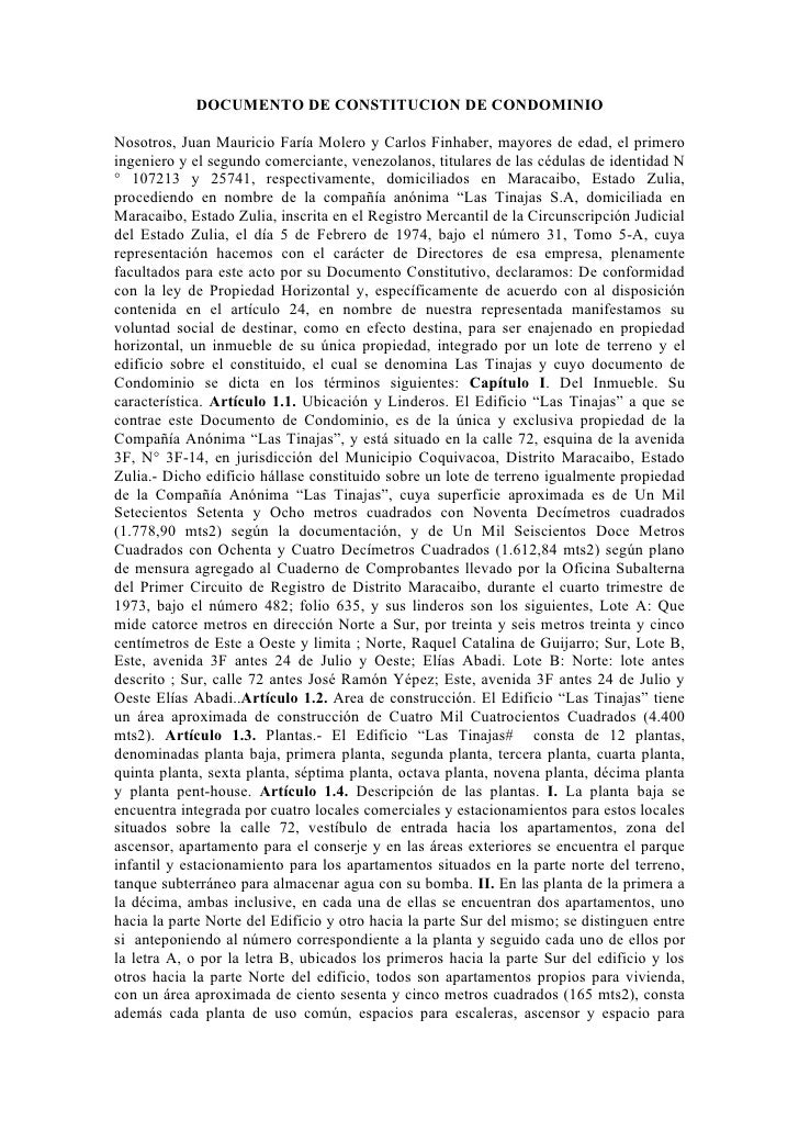 Documento de constitucion de condominio 2