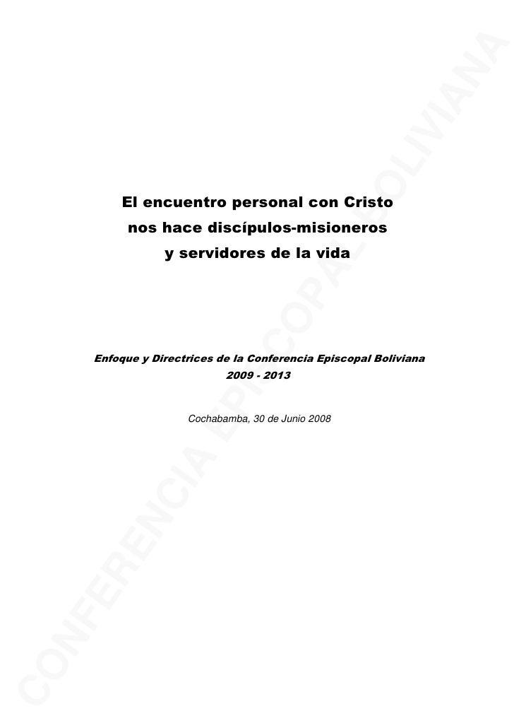 Documento de obispo de bolivia