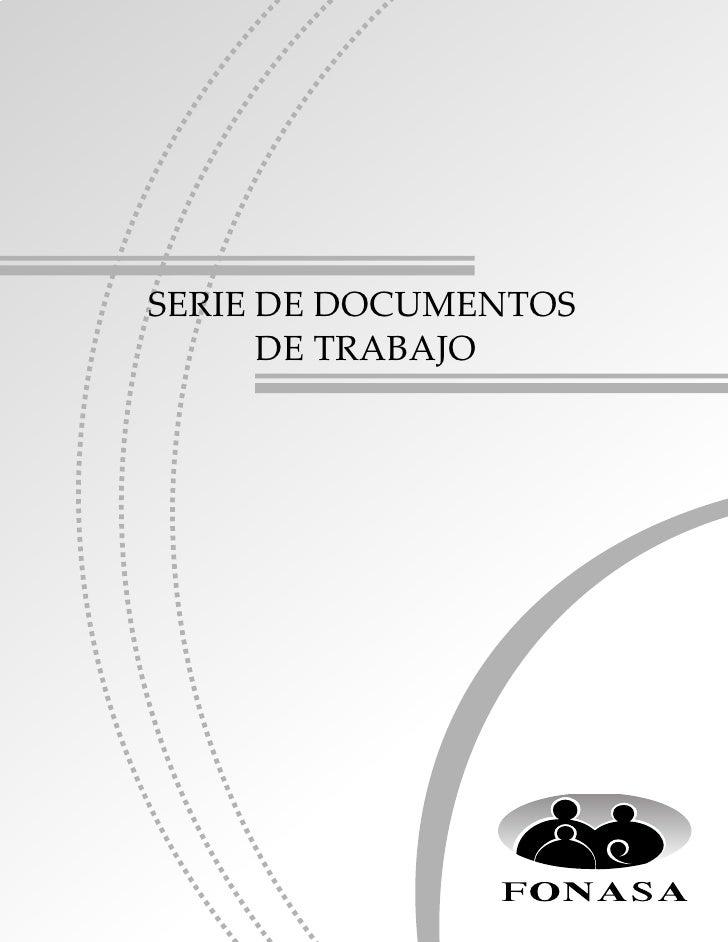 SERIE DE DOCUMENTOS               DE TRABAJO                               Nº 3DEPARTAMENTO DE PLANEAMIENTOINSTITUCIONALFO...