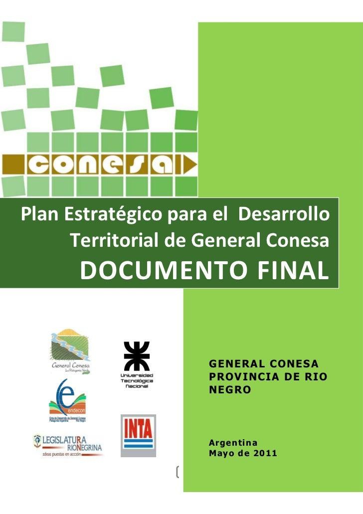 Plan Estratégico para el Desarrollo Territorial de General Conesa (Rio Negro, Argentina)