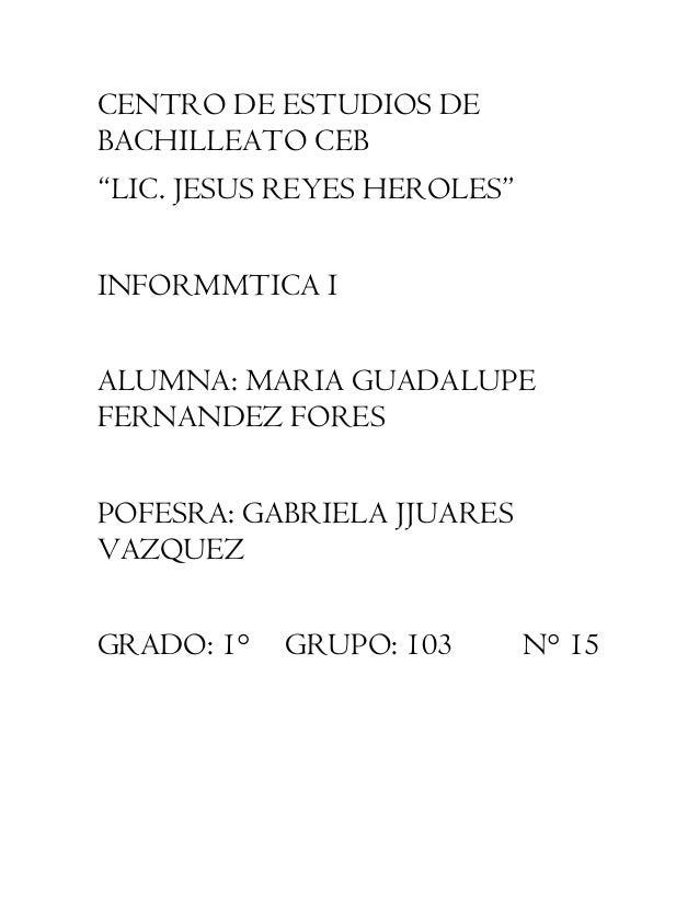 Documento formal informatica