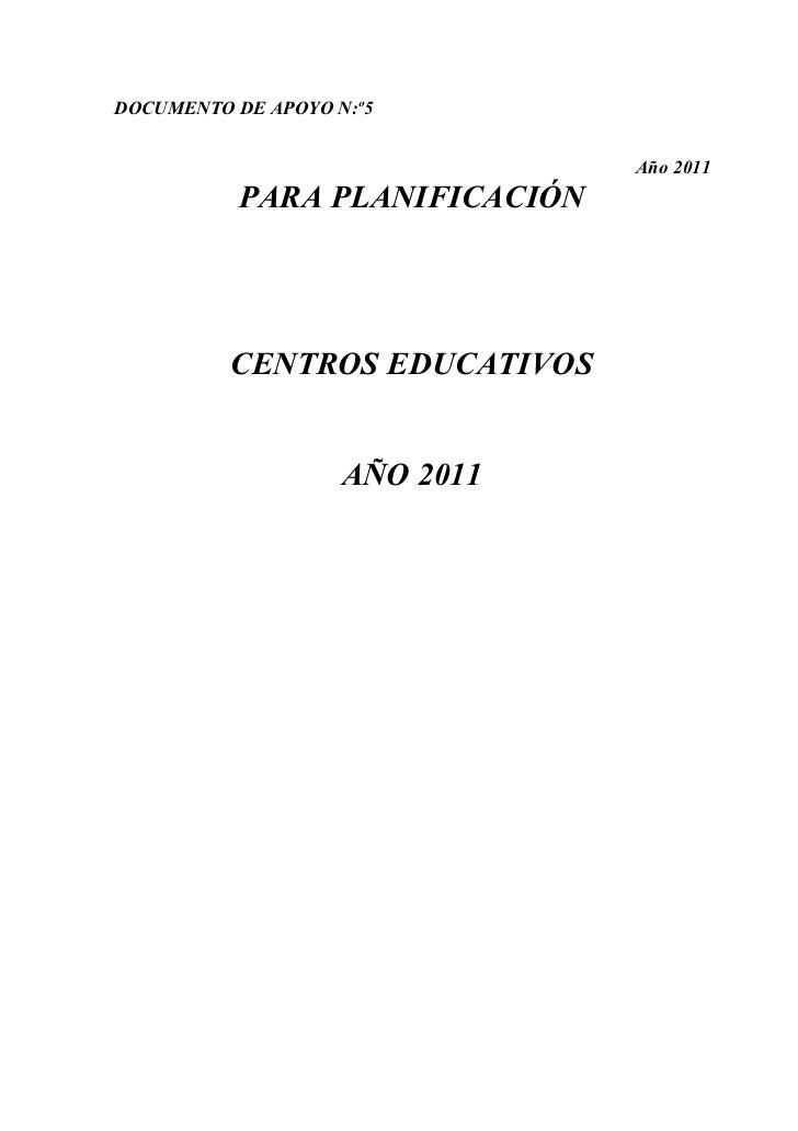 Documento  planificación para maestros 2011