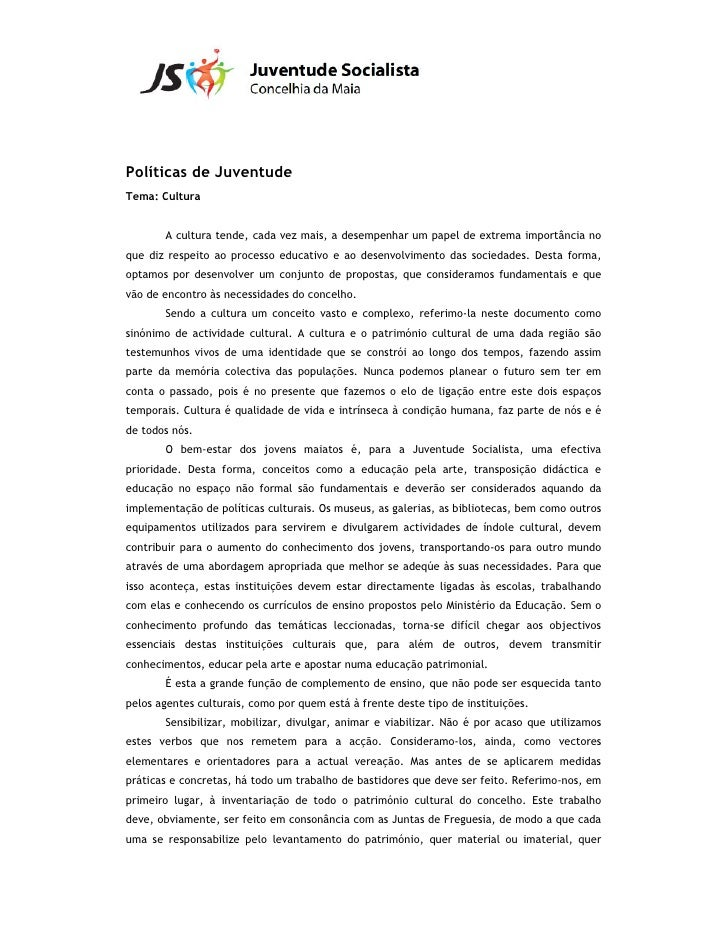 Documento Políticas de Juventude-Cultura