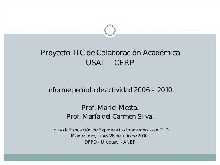 Documento presentacion experencias innovadoras 26 de julio 2010