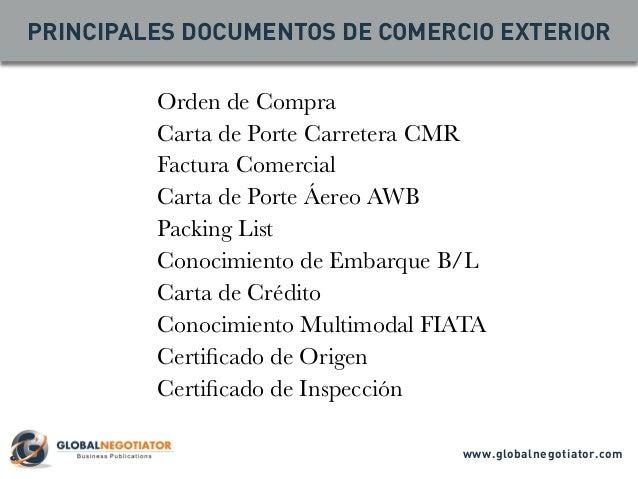 Documentos de comercio exterior los 10 modelos m s utilizados for De comercio exterior