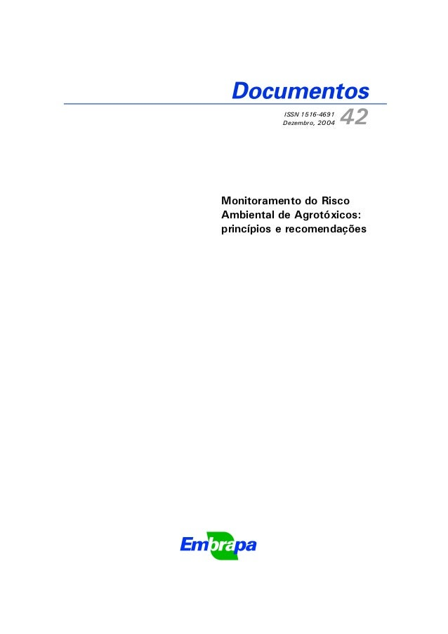 Documentos 42 monitoramento do risco ambiental de agrotóxicos