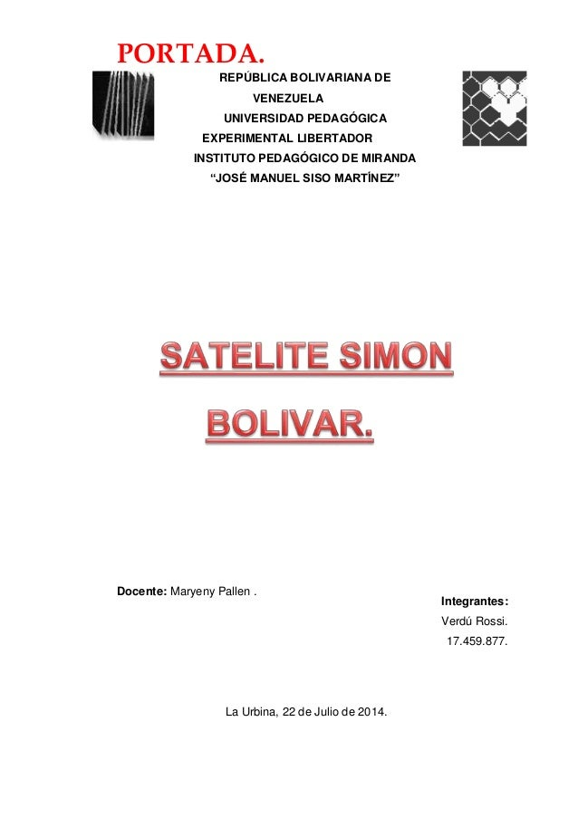PORTADA. REPÚBLICA BOLIVARIANA DE VENEZUELA UNIVERSIDAD PEDAGÓGICA EXPERIMENTAL LIBERTADOR INSTITUTO PEDAGÓGICO DE MIRANDA...