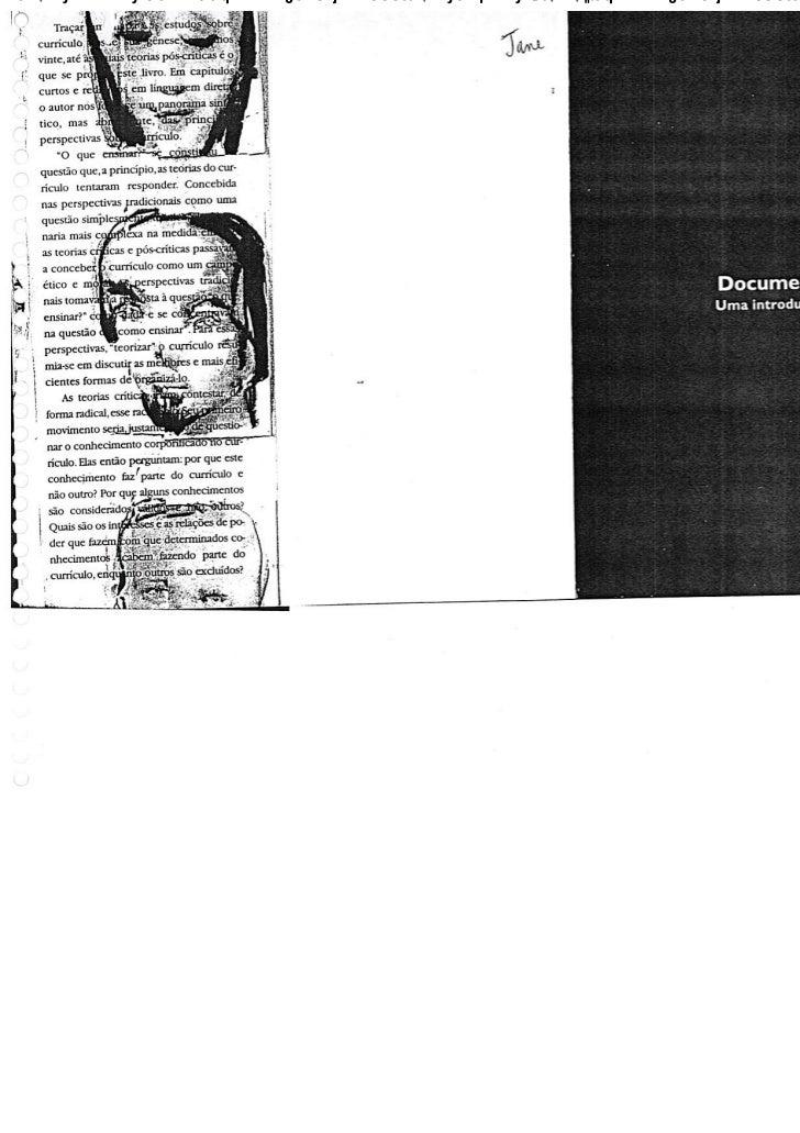 Documentos de Identidade (Parte I) - Tomaz Tadeu da Silva