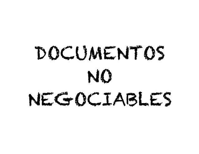 Documentos No Negociables