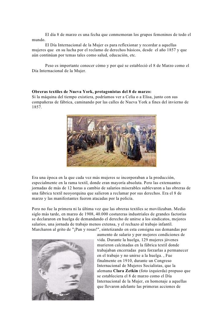 Documento sobre el día internacional de la mujer 1