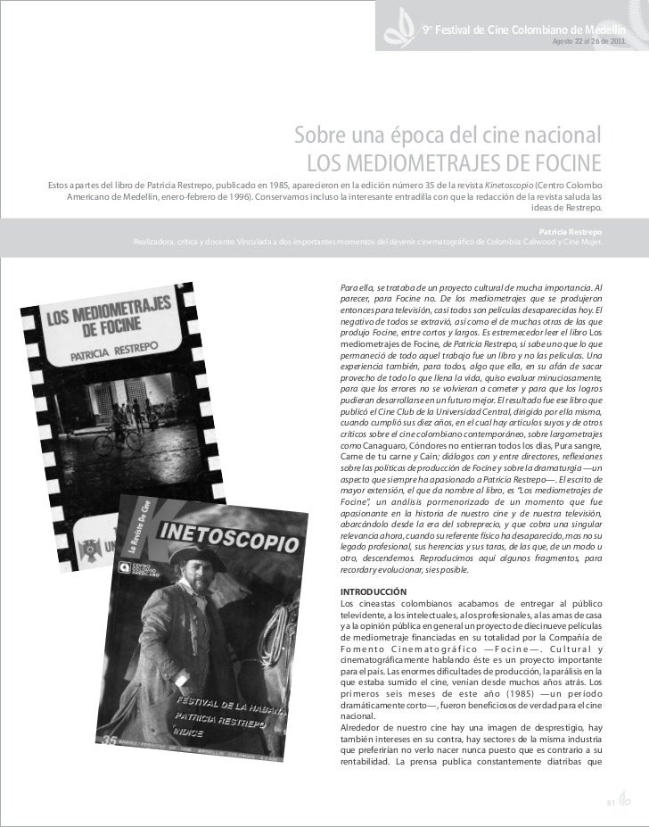 9° Festival de Cine Colombiano de Medellín                                                                                ...