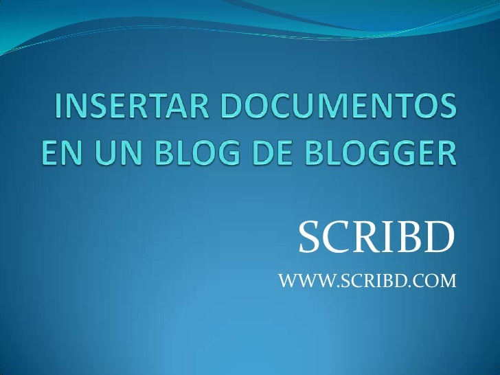 Documentos Scribd