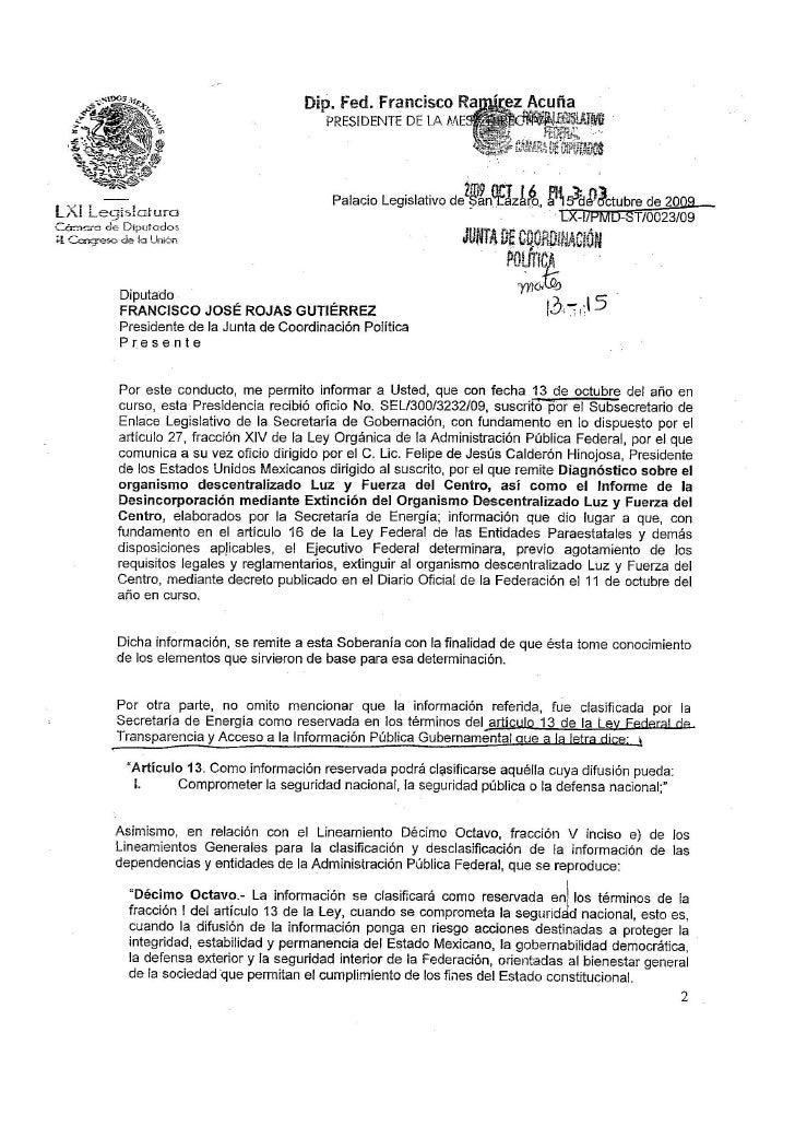 Documentos Secretos Informe De DeisncorporacióN Ly F