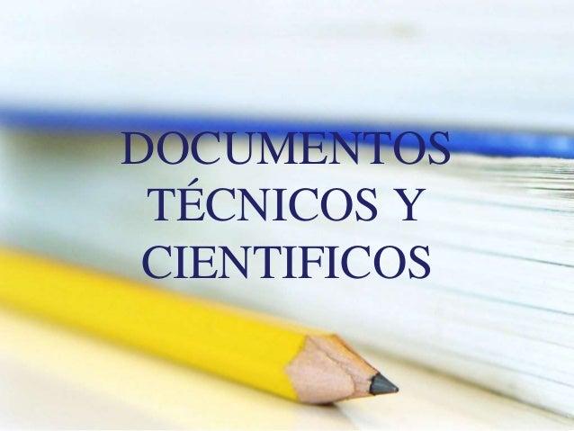 Documentos técnicos y cientificos