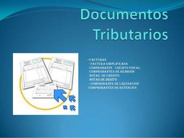 Documentos tributarios tarea