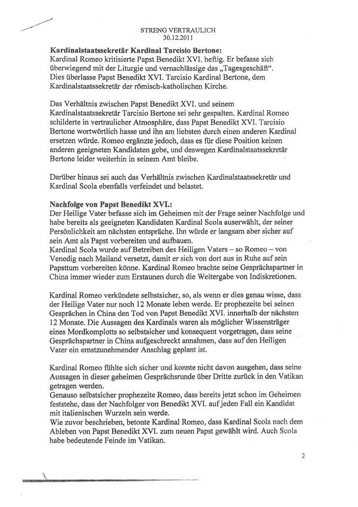Documento tedesco papa