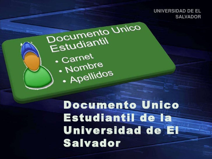 Documento Unico Estudiantil