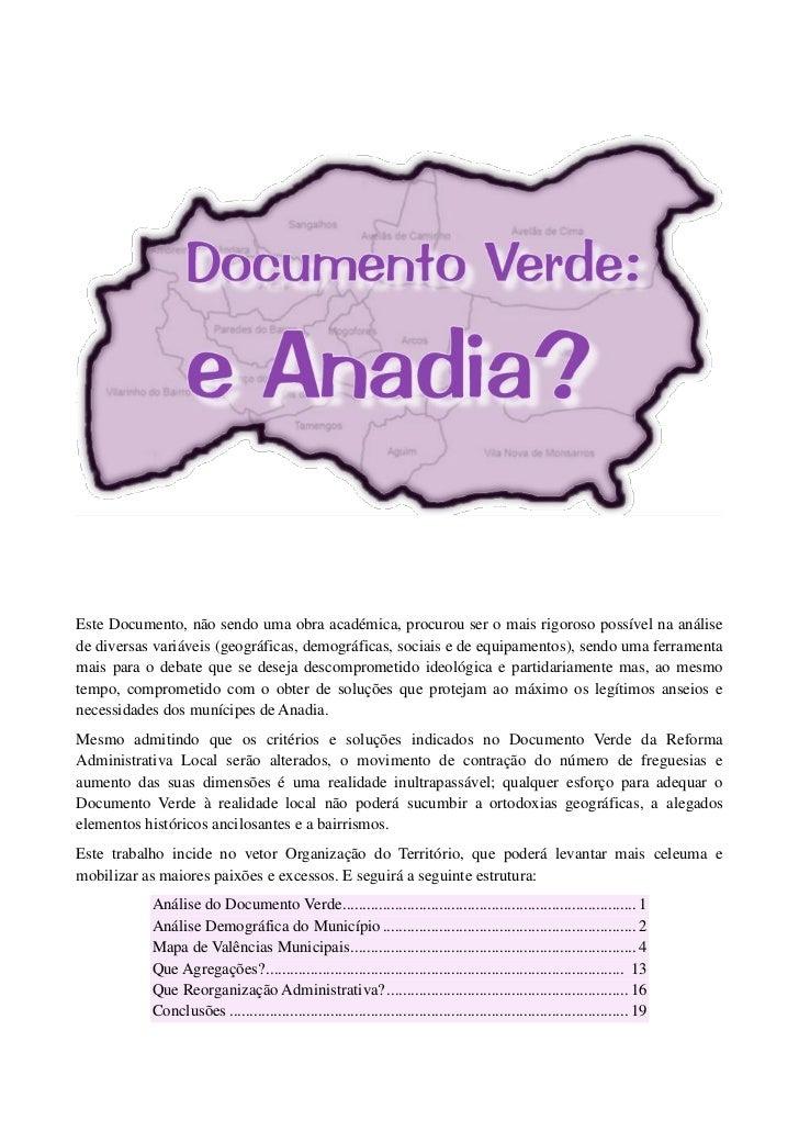 Documento Verde: e Anadia?
