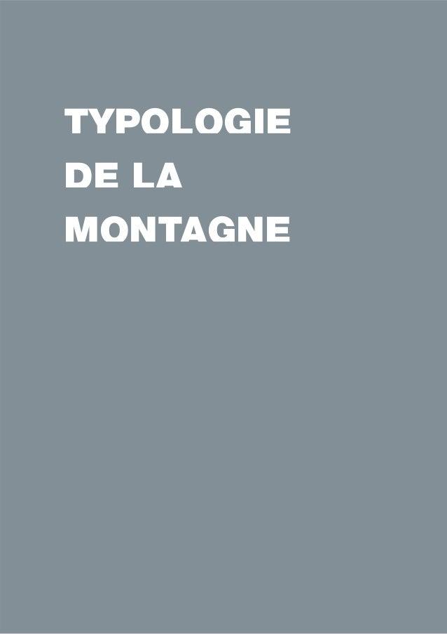 TYPOLOGIE  DE LA  MONTAGNE